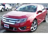 2010 Sangria Red Metallic Ford Fusion Sport #39421187