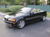 2001 Jet Black BMW 3 Series 330i Convertible #39421244