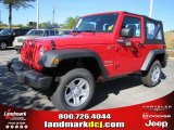 2011 Flame Red Jeep Wrangler Sport 4x4 #39430944