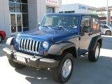 2010 Deep Water Blue Pearl Jeep Wrangler Sport 4x4 #39431227