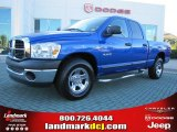 2008 Electric Blue Pearl Dodge Ram 1500 SXT Quad Cab #39430955