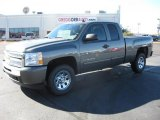 2011 Steel Green Metallic Chevrolet Silverado 1500 LS Extended Cab 4x4 #39431257