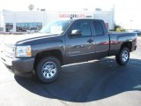 2011 Taupe Gray Metallic Chevrolet Silverado 1500 LS Extended Cab 4x4 #39431260