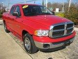 2004 Flame Red Dodge Ram 1500 SLT Quad Cab 4x4 #39431512