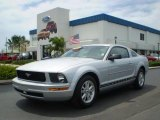 2007 Satin Silver Metallic Ford Mustang V6 Deluxe Coupe #392652
