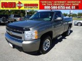 2007 Graystone Metallic Chevrolet Silverado 1500 LS Regular Cab #39431576