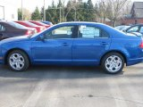2011 Blue Flame Metallic Ford Fusion SE V6 #39431139