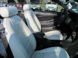 2002 Ford Mustang V6 Convertible Oxford White Interior