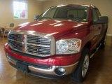 2007 Inferno Red Crystal Pearl Dodge Ram 1500 ST Quad Cab 4x4 #39430843