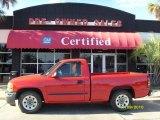 2005 Fire Red GMC Sierra 1500 Regular Cab #39502642