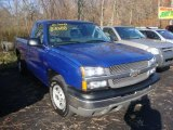 2004 Arrival Blue Metallic Chevrolet Silverado 1500 Regular Cab #39502783