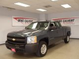 2007 Blue Granite Metallic Chevrolet Silverado 1500 Work Truck Extended Cab #39503398