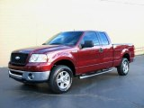 2006 Dark Toreador Red Metallic Ford F150 XLT SuperCab 4x4 #39502802