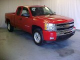 2011 Victory Red Chevrolet Silverado 1500 LT Extended Cab 4x4 #39503124