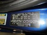 2009 Accent Color Code for Dark Sapphire Blue - Color Code: 3E