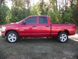 2008 Inferno Red Crystal Pearl Dodge Ram 1500 Big Horn Edition Quad Cab #39598155