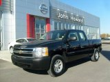 2008 Black Chevrolet Silverado 1500 Work Truck Extended Cab 4x4 #39598439