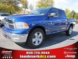 2011 Deep Water Blue Pearl Dodge Ram 1500 Big Horn Crew Cab #39597928