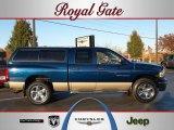 2004 Patriot Blue Pearl Dodge Ram 1500 SLT Quad Cab 4x4 #39597679