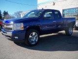 2011 Laser Blue Metallic Chevrolet Silverado 1500 LT Extended Cab 4x4 #39597701