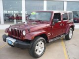 2010 Jeep Wrangler Unlimited Red Rock Crystal Pearl