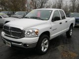 2007 Bright White Dodge Ram 1500 SLT Quad Cab 4x4 #39598557