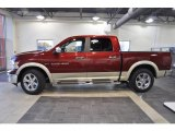 2011 Deep Cherry Red Crystal Pearl Dodge Ram 1500 Laramie Crew Cab #39597999