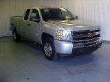 2011 Sheer Silver Metallic Chevrolet Silverado 1500 Extended Cab #39598265