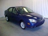2005 Sonic Blue Metallic Ford Focus ZX4 SE Sedan #39598279