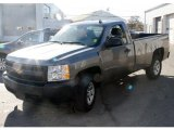 2008 Graystone Metallic Chevrolet Silverado 1500 Work Truck Regular Cab 4x4 #39598633