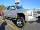 2011 Sheer Silver Metallic Chevrolet Silverado 1500 LT Crew Cab 4x4 #39666950