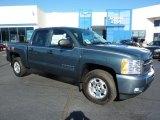 2011 Blue Granite Metallic Chevrolet Silverado 1500 LT Crew Cab 4x4 #39666849