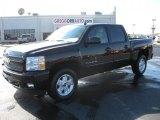 2011 Black Chevrolet Silverado 1500 LT Crew Cab 4x4 #39667114