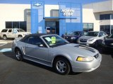 2000 Silver Metallic Ford Mustang V6 Convertible #39666855
