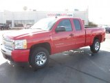 2011 Victory Red Chevrolet Silverado 1500 LS Extended Cab #39667125