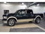 2011 Hunter Green Pearl Dodge Ram 1500 Laramie Crew Cab #39666909