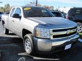 2008 Graystone Metallic Chevrolet Silverado 1500 LS Extended Cab #39667445