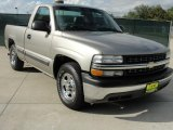 2002 Light Pewter Metallic Chevrolet Silverado 1500 Work Truck Regular Cab #39666915
