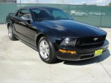 2005 Black Ford Mustang V6 Deluxe Convertible #39666918