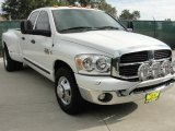 2007 Bright White Dodge Ram 3500 Lone Star Quad Cab Dually #39666921