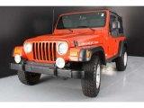 2006 Impact Orange Jeep Wrangler Rubicon 4x4 #39738933