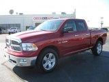 2010 Inferno Red Crystal Pearl Dodge Ram 1500 Big Horn Quad Cab 4x4 #39739619