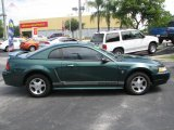 2000 Amazon Green Metallic Ford Mustang V6 Coupe #39740250