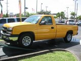 2006 Fleet Yellow Chevrolet Silverado 1500 Work Truck Regular Cab #39740257