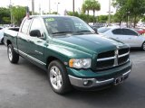 2003 Timberline Green Pearl Dodge Ram 1500 Laramie Quad Cab #39740715