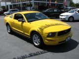2005 Screaming Yellow Ford Mustang V6 Deluxe Coupe #39740722