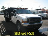 Oxford White Ford F550 Super Duty in 2001