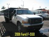 Oxford White Ford F550 Super Duty in 2001