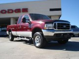 2004 Dark Toreador Red Metallic Ford F250 Super Duty FX4 SuperCab 4x4 #39739787