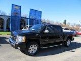 2008 Dark Blue Metallic Chevrolet Silverado 1500 Z71 Crew Cab 4x4 #39739255